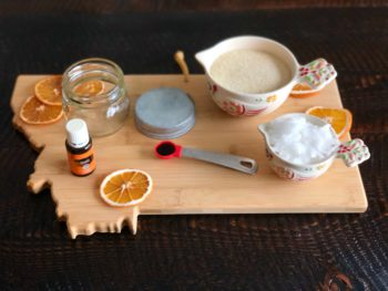 DIY Orange-Vanilla Sugar Scrub