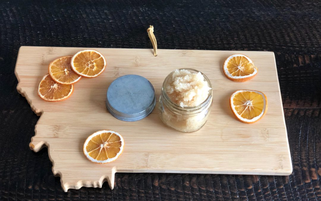 Super easy DIY Orange-Vanilla Sugar Scrub