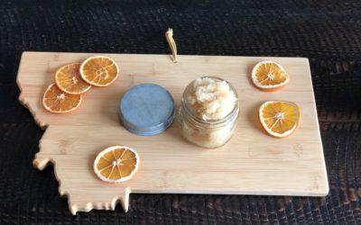 Super Easy DIY Orange-Vanilla Sugar Scrub!