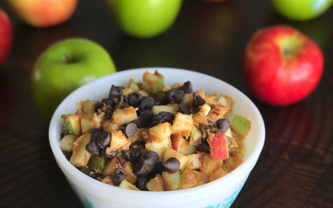 Apple-Peanut Butter-Chocolate Chip Salad