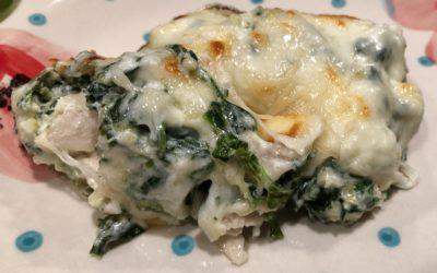Keto Low Carb Spinach-Artichoke Chicken Casserole