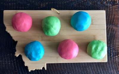 Soft and Easy Homemade Play-dough with Essential Oils