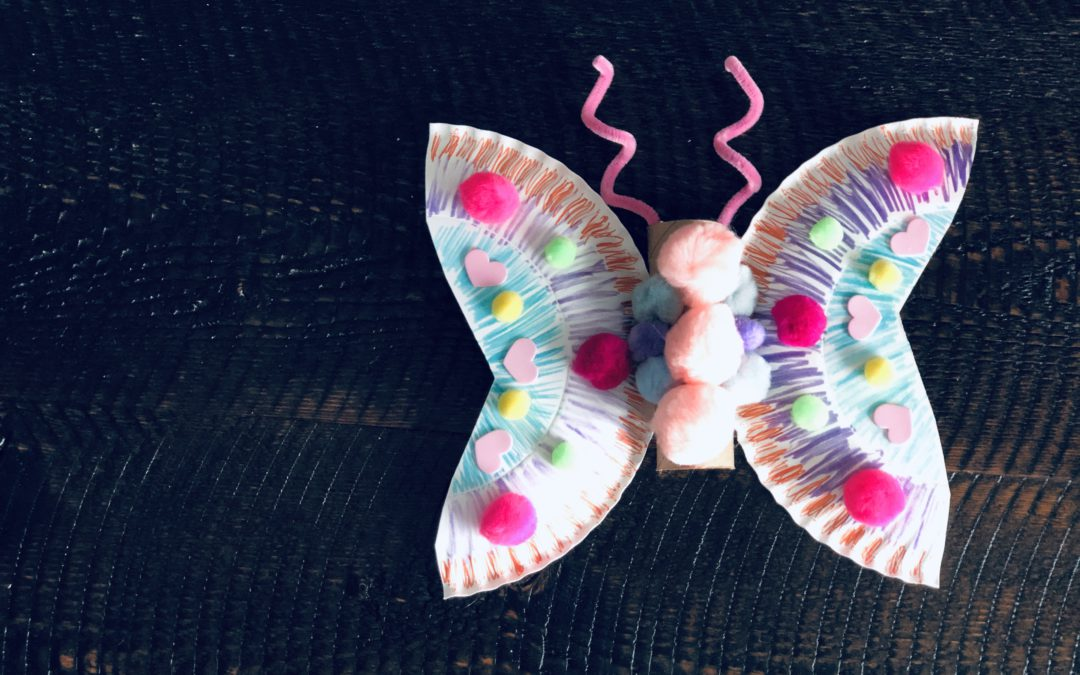 Paper plate butterfly craft